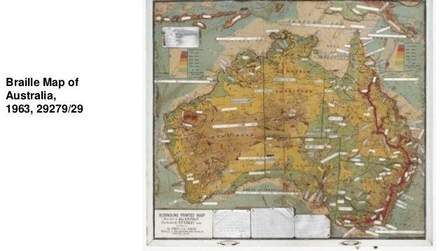 Braille Map of Australia, 1963, 29279/29
