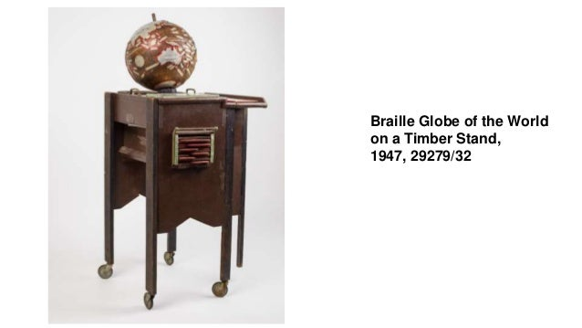 Braille Globe of the World on a Timber Stand, 1947, 29279/32
