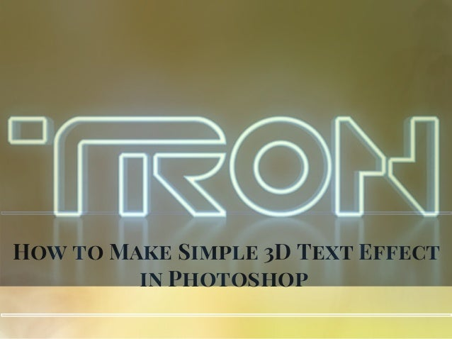 How to Make Simple 3D Text Effect in Photoshop