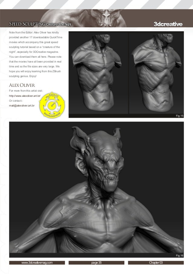 3dtotal speed sculpting zbrush tutorial