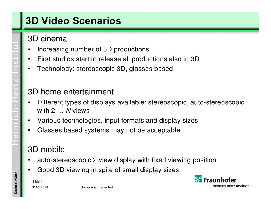 3D Video: From Stereo to Multi-View