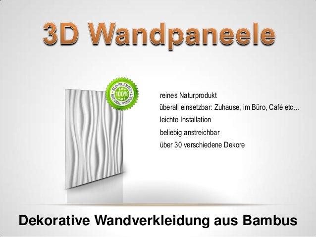 3d wandpaneel gmbh exklusive wandverkleidung paneele. Black Bedroom Furniture Sets. Home Design Ideas
