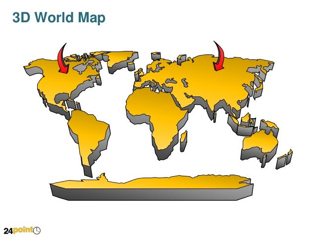 3d world map fully editable powerpoint 3d world map 2 gumiabroncs Images