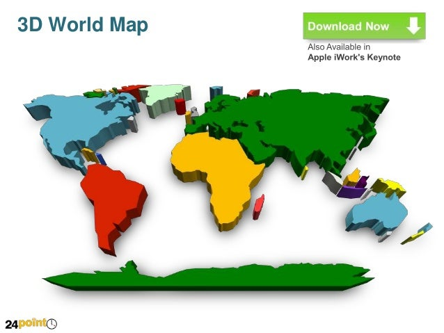3d world map fully editable powerpoint 3d world map 4 gumiabroncs Images