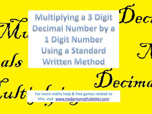 For more maths help & free games related to this, visit: www.makemymathsbetter.com