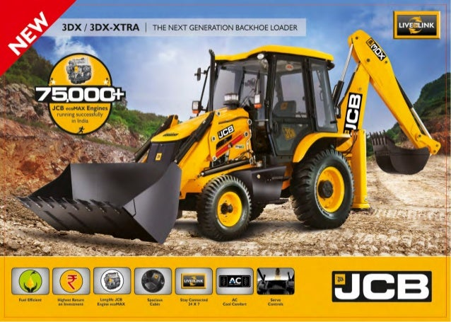 jcb 3dx xtra backhoe loader brochure rh slideshare net jcb backhoe loader 3dx parts manual JCB 214 Backhoe Repair Manuals