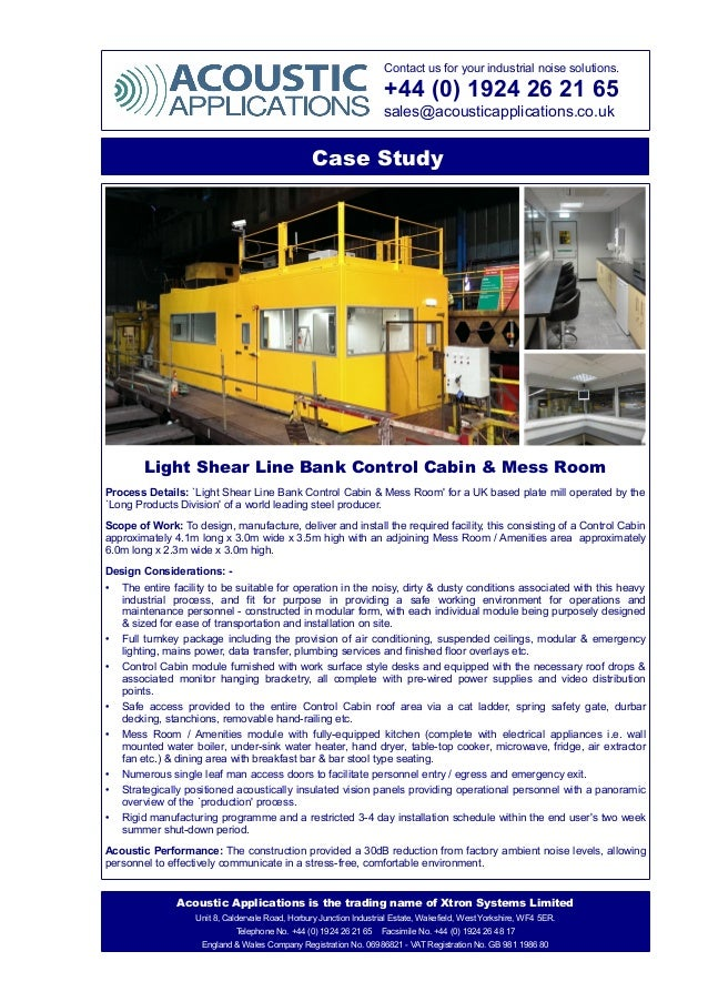 Contact us for your industrial noise solutions. +44 (0) 1924 26 21 65 sales@acousticapplications.co.uk Case Study Light Sh...