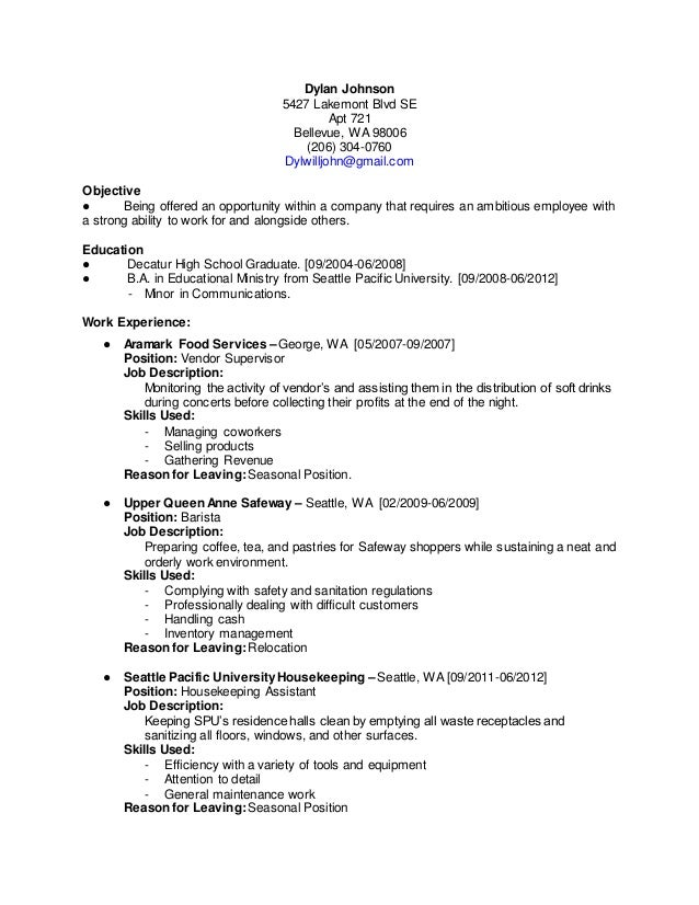 Resume Courtesy Clerk  Courtesy Clerk Resume Samples VisualCV     duupi The following resume is your standard format  Name big at the top followed  by contact info  the brief summary or objective statement first