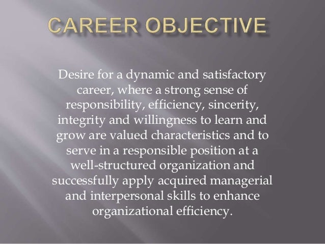 how to write career objective summary