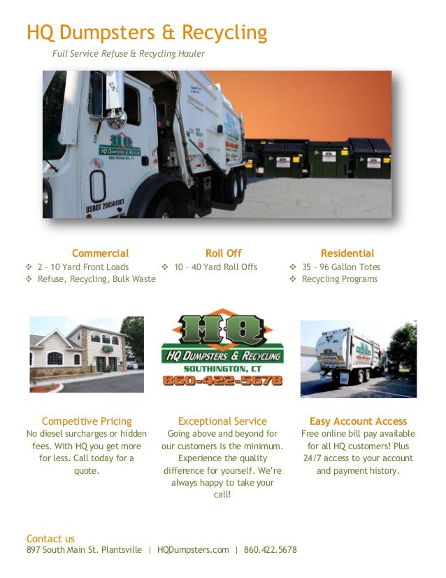 HQ Dumpsters   Recycling Full Service Refuse   Recycling Hauler Commercial Roll  Off Residential  2 ec39c4e3131f