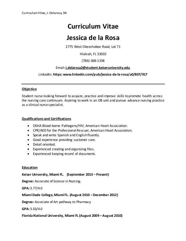 Keiser University Email >> Curriculum Vitae Updated