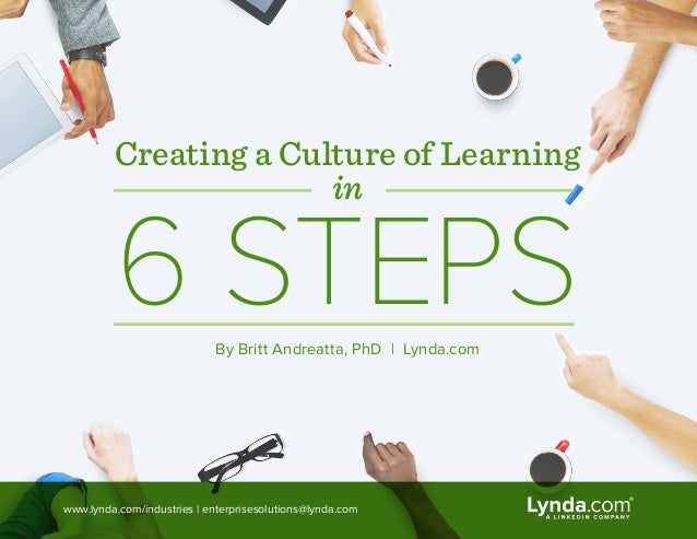 Creating a Culture of Learning in 6 STEPSBy Britt Andreatta, PhD | Lynda.com www.lynda.com/industries | enterprisesolution...