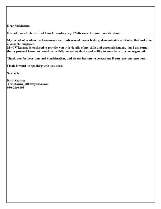 Cover Letter For Forwarding Resume 25 Unique Cover Letter Format