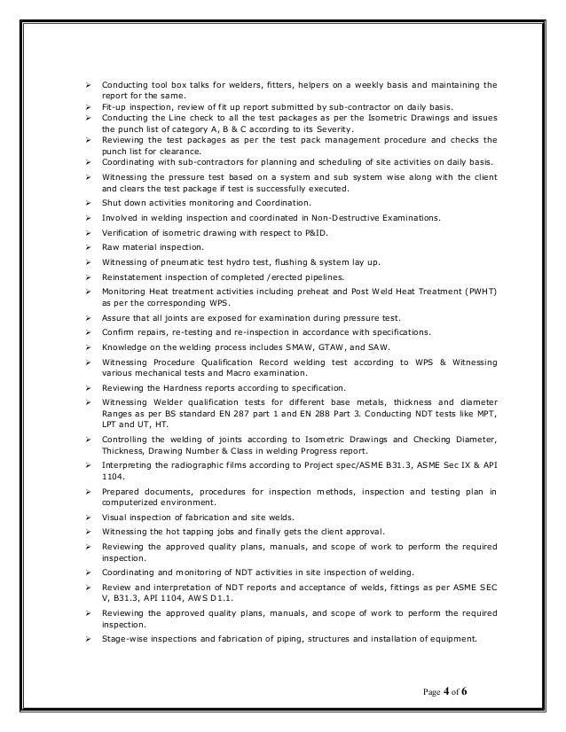 Binukumar Resume QA QC ENGINEER