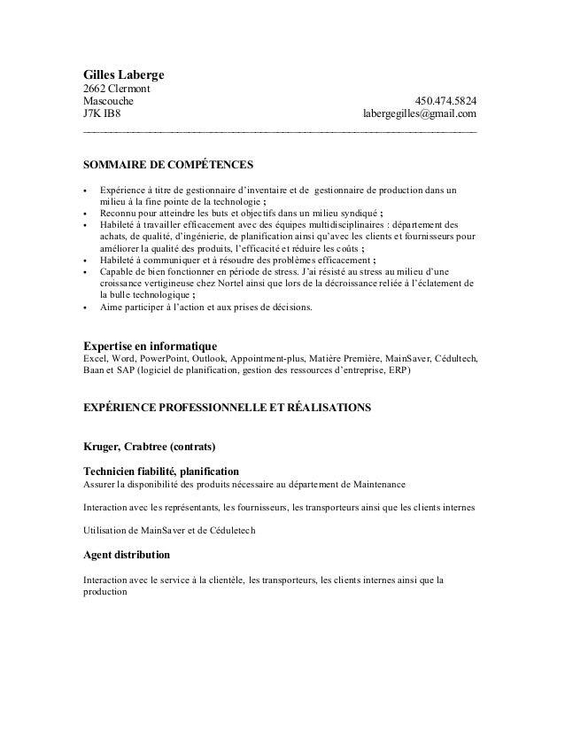 Gilles Laberge 2662 Clermont Mascouche 450.474.5824 J7K IB8 labergegilles@gmail.com ______________________________________...