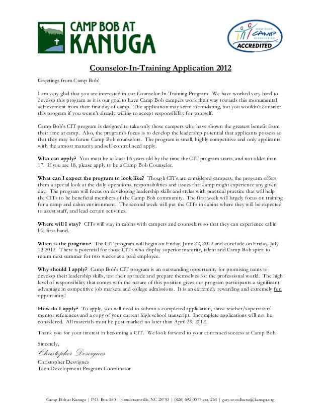 Application Letter For 2012 - Writing the Cover Letter