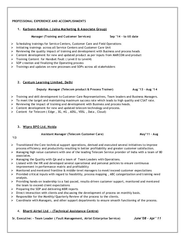 Expert Resumes - Your Nation\'s #1 Resume Writing Service telecom ...