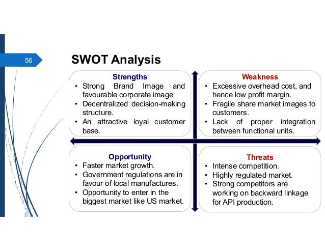 swot analysis indian pharmaceutical industry Free essay: swot analysis of pharmaceutical sector in india: strengths: 1 indian with a population of over a billion is a largely untapped market in fact.