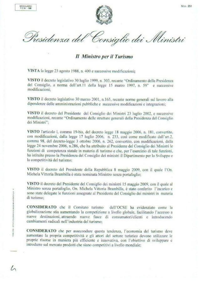 Comitato Innovazione Turismo decreto