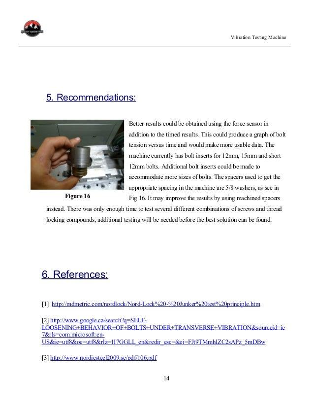Report, Vibration Testing Machine-1