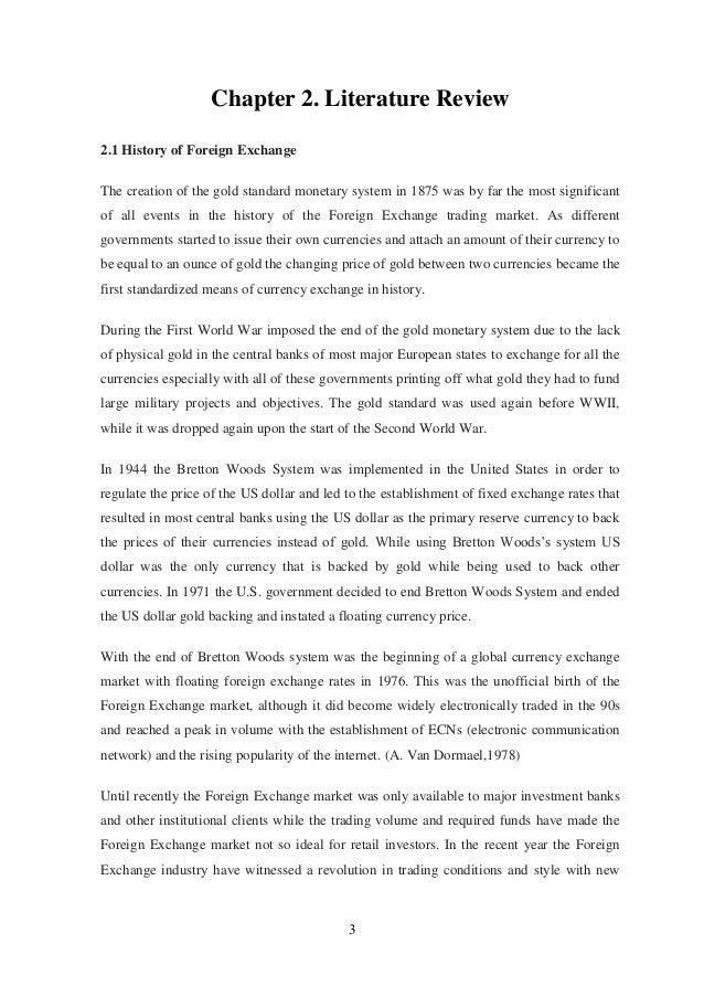History database forex