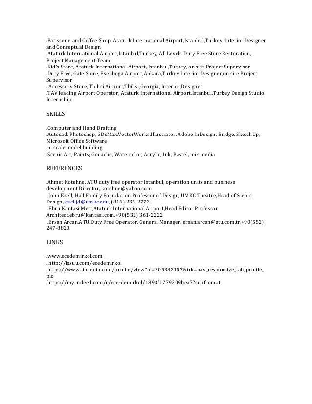 Ece Demirkol_Interior Designer Resume