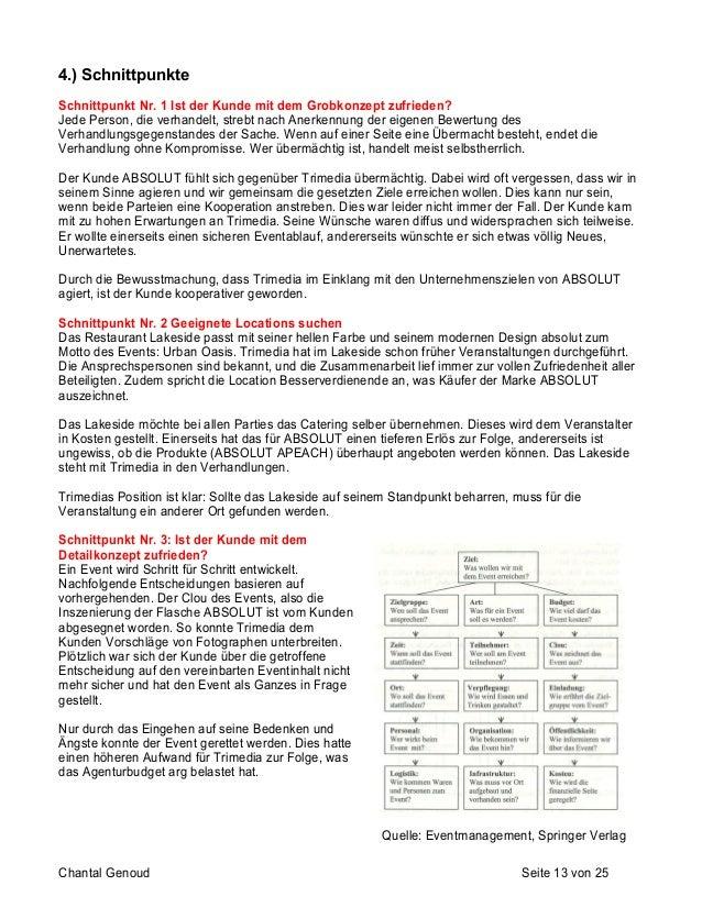 Bericht über die Konzeption und Planung eines Events am Beis