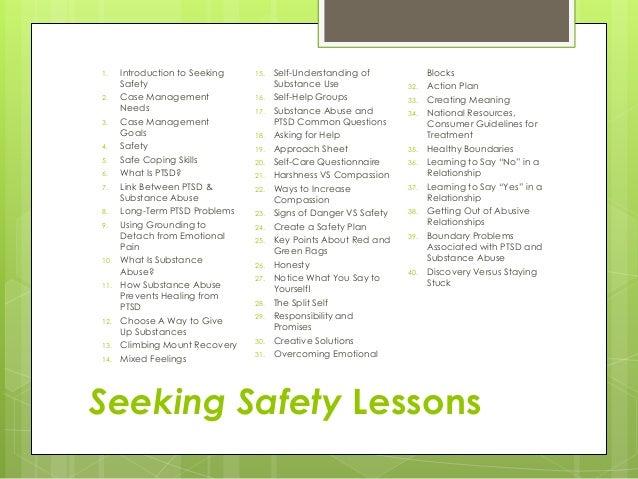 Printables Seeking Safety Worksheets seeking safety worksheets hypeelite boundaries photo album worksheet for