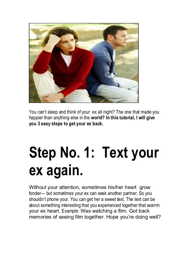 how to get your ex back book pdf
