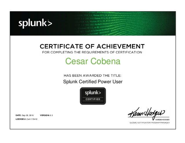 SPLUNK Power User Certification