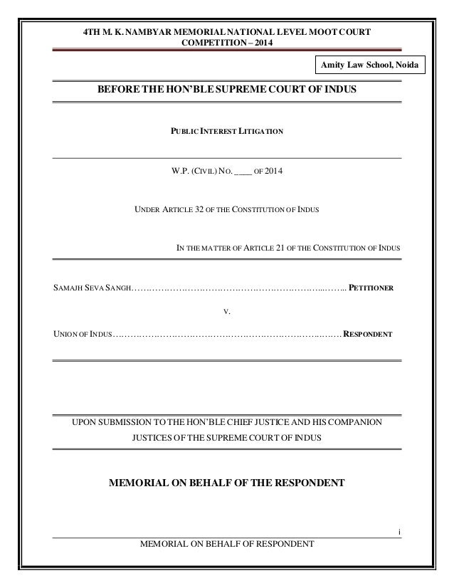 MOOT COURT MEMORIALS PDF DOWNLOAD
