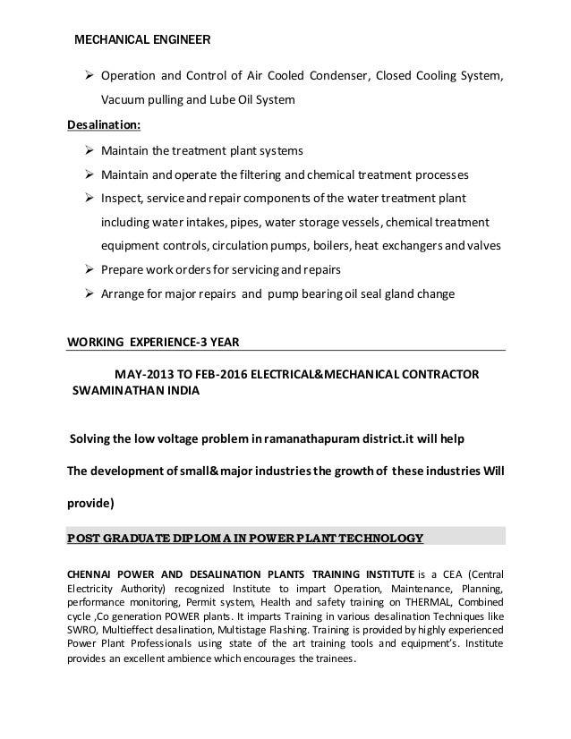 ALBARICK POWER PLANT NEW CV