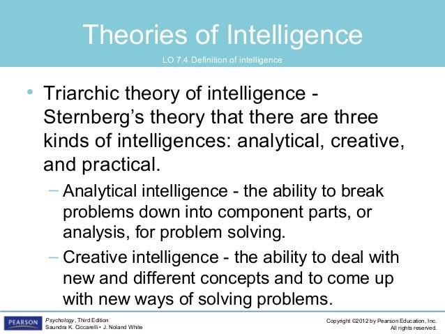 robert sternberg's theory of intelligence
