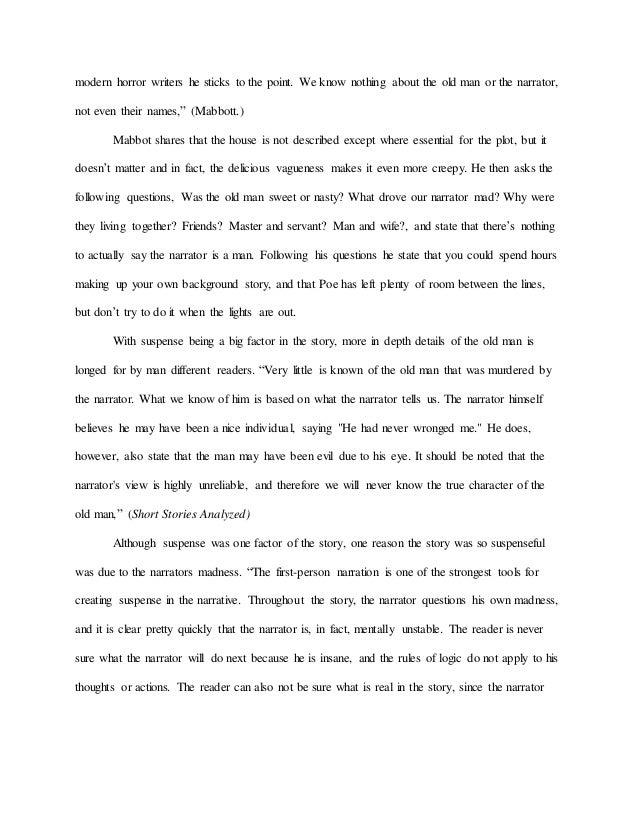 literary analysis essay tell tale heart