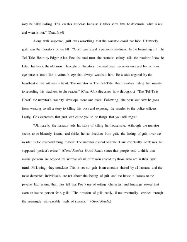 Essay on the tell tale heart insanity