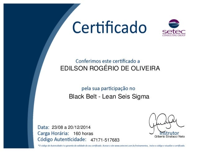 six sigma black belt certificate template - certificado black belt