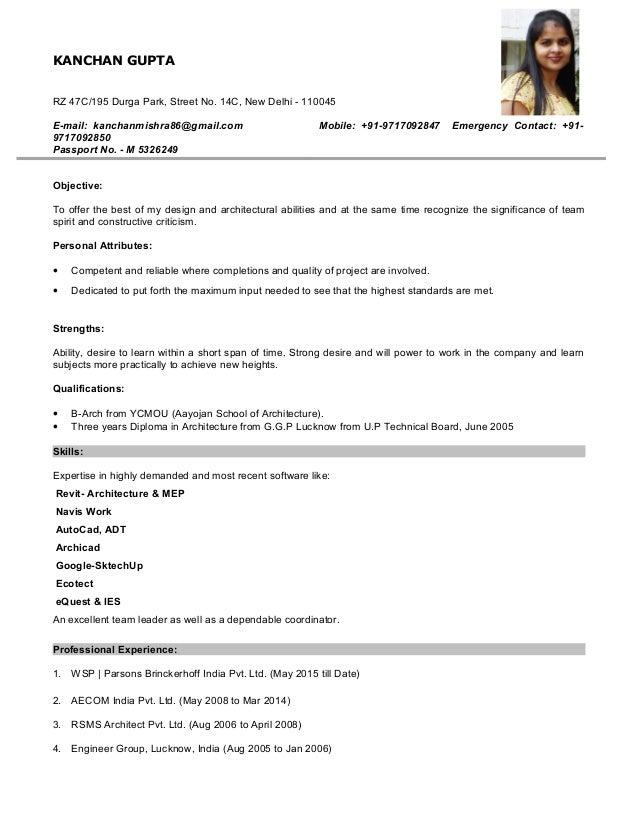 kanchan resume