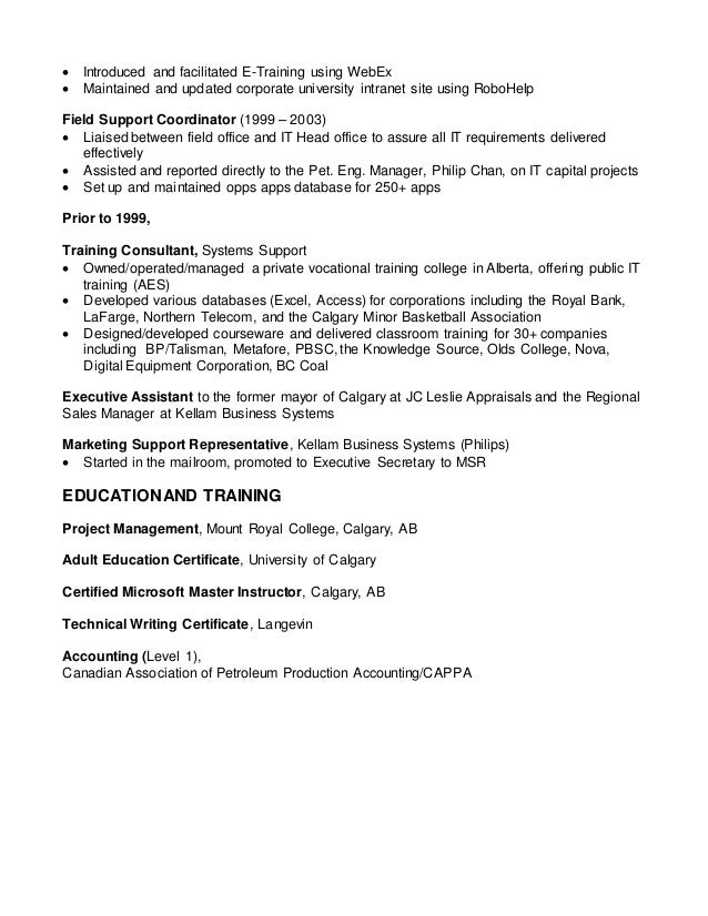 Stunning Calgary Production Accounting Resume Gallery - Best Resume ...