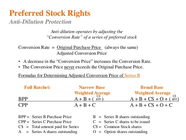 Anti dilutive stock options
