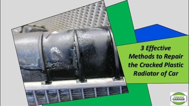 plastic radiator crack fix