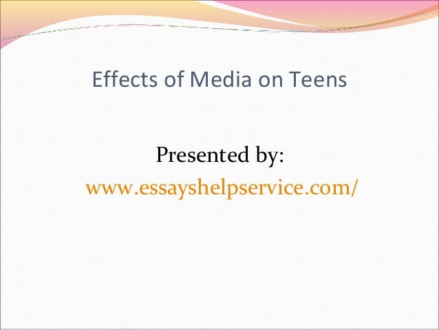"the effects of media on teenagers Mcluhan's ""media is the message"" has never been more relevant than in the age  of the ubiquitous digital media the social influences by the peer group and."