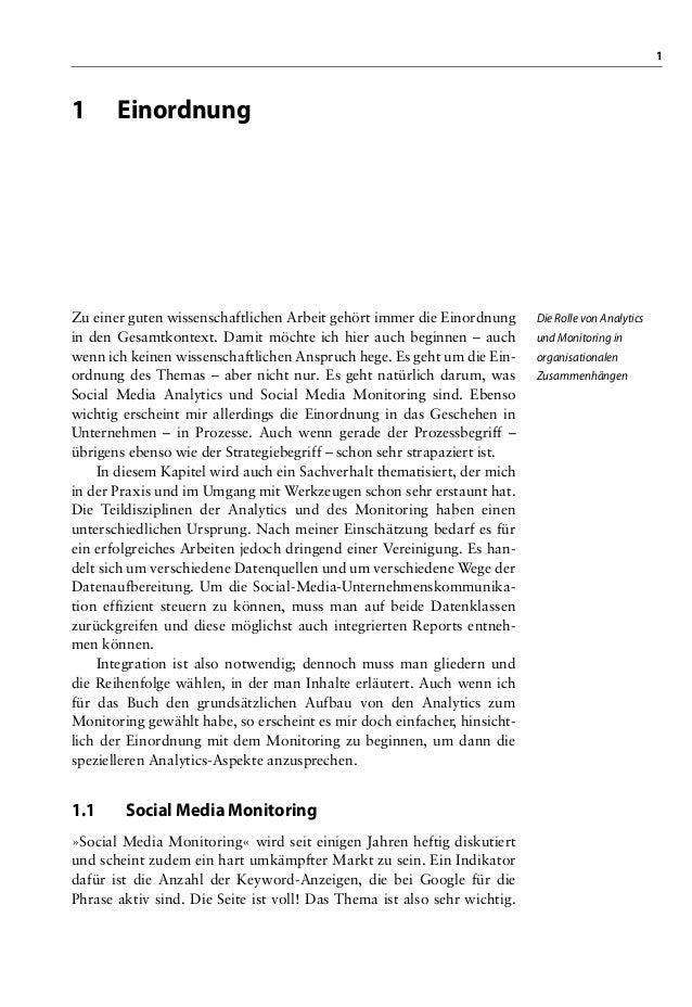 11 EinordnungDie Rolle von Analyticsund Monitoring inorganisationalenZusammenhängenZu einer guten wissenschaftlichen Arbei...