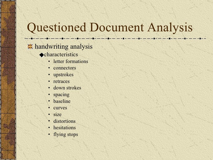 Elements of forensic science for Questioned documents forensic science