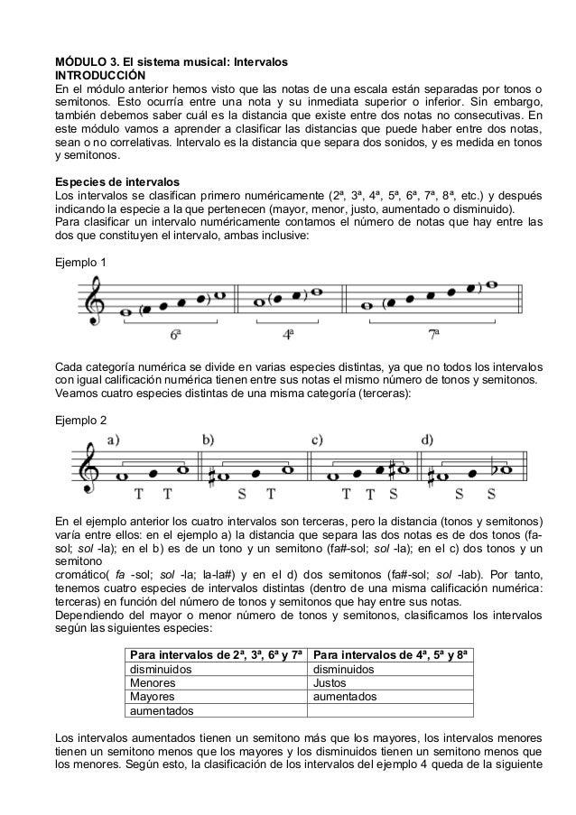 MÓDULO 3. El sistema musical: Intervalos INTRODUCCIÓN En el módulo anterior hemos visto que las notas de una escala están ...