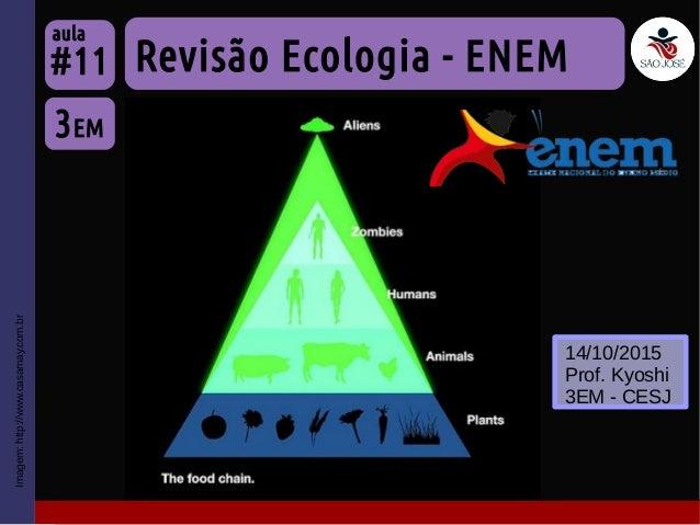 Imagem:http://www.casamay.com.br Revisão Ecologia - ENEM 3EM #11 aula 14/10/2015 Prof. Kyoshi 3EM - CESJ
