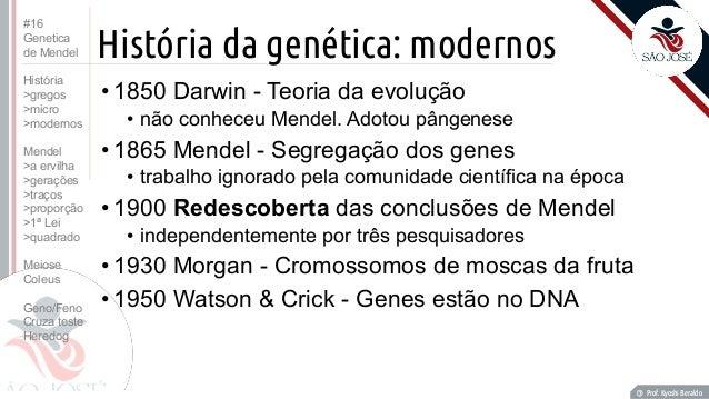 Historia de mendel genetica