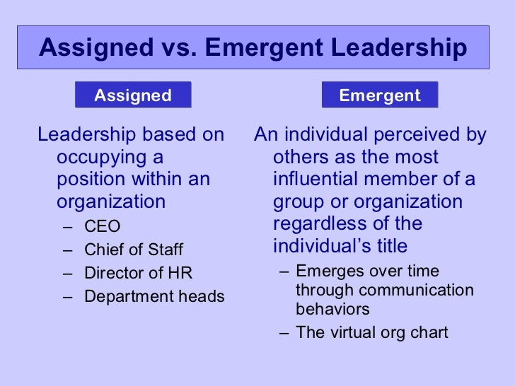 The Importance of Emergent Leadership