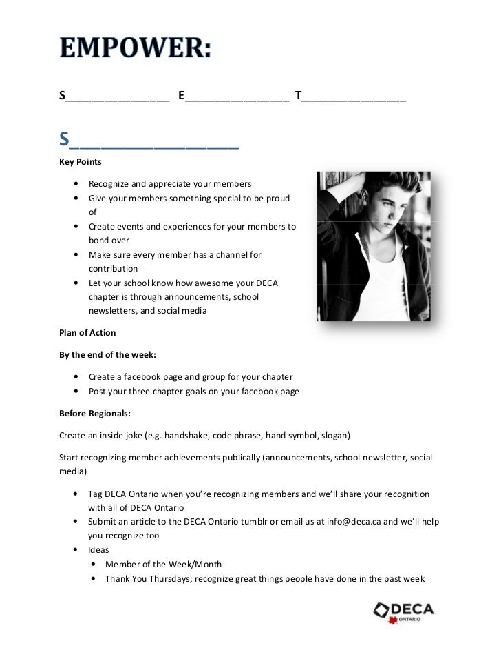 "empower"" presentation handout for deca ontario presidents' summit, Powerpoint templates"