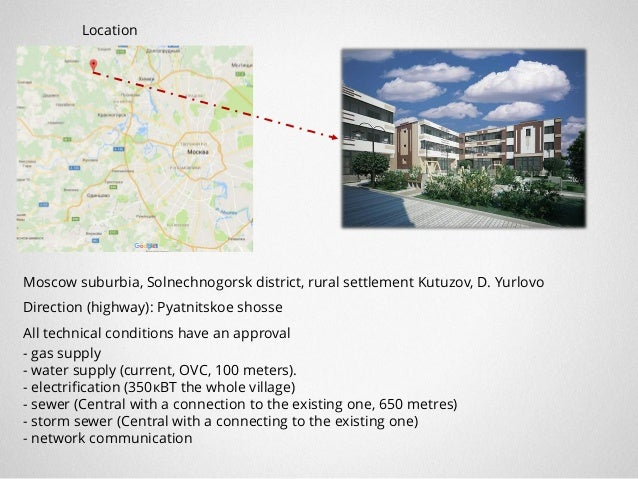 """General Layout 1 Shopping center (construction materials) """"Petrovich"""" 2 Shopping center 3 Floral supermarket 1 3 2 Shoppin..."""
