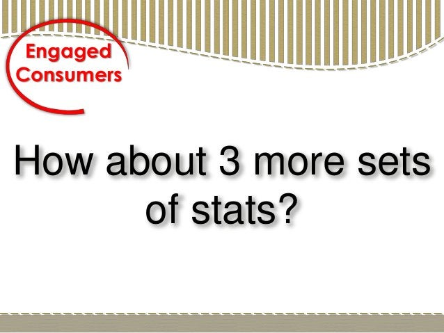 How about 3 more sets of stats? Engaged Consumers